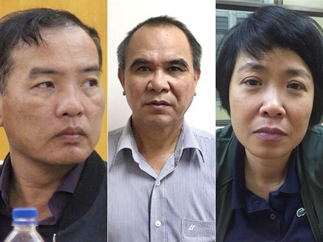 Ba lãnh đạo và cựu lãnh đạo MobiFone bị bắt (từ trái qua): Ông Lê Nam Trà, ông Cao Duy Hải và bà Phạm Thị Phương Anh.