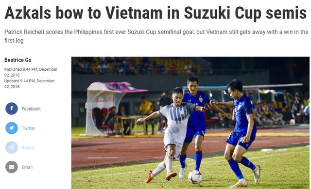 Tờ Rappler thừa nhận đội tuyển Việt Nam xứng đáng chiến thắng