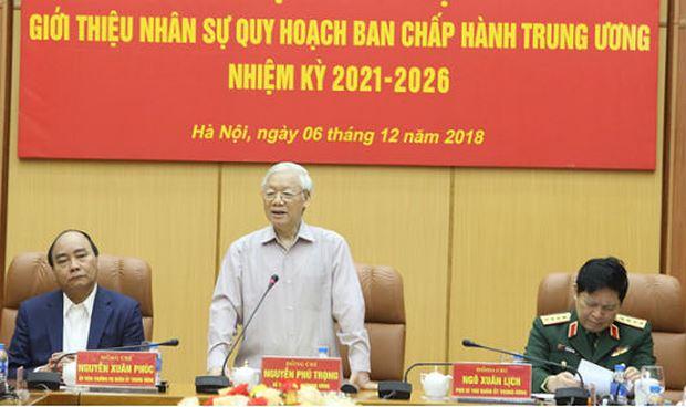 Tổng Bí thư, Chủ tịch nước, Bí thư Quân ủy Trung ương Nguyễn Phú Trọng phát biểu chỉ đạo tại hội nghị.