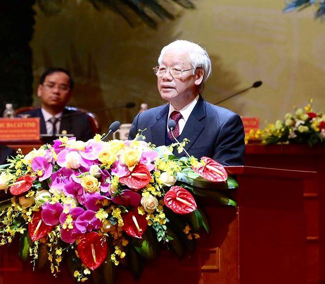 Tổng Bí thư, Chủ tịch nướcNguyễn Phú Trọngphát biểu chỉ đạo đại hội.