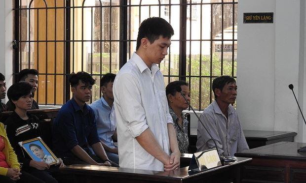 Bị cáo Minh tại phiên xử trả hồ sơ điều tra bổ sung ngày 23/11.