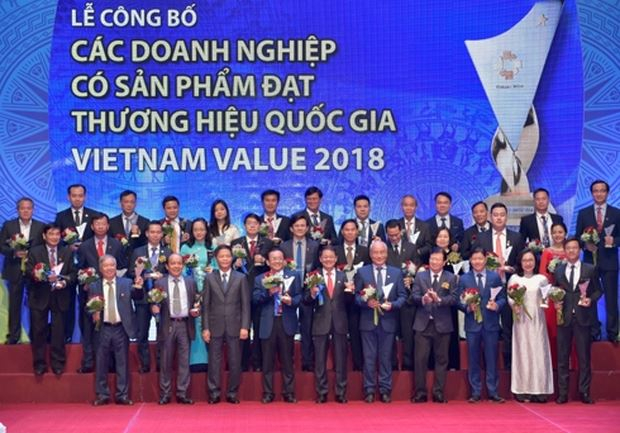 Gần 100 doanh nghiệp đạt Thương hiệu Quốc gia 2018