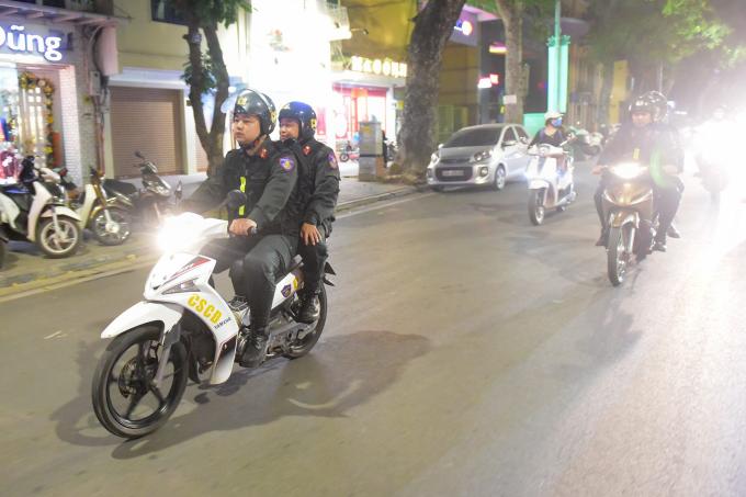 Đại đội phó đại đội một Trịnh Ngọc Tuấn (thuộc tiểu đoàn 2, Trung đoàn Cảnh sát cơ động CA TP Hà Nội) được giao nhiệm vụ phụ trách mảng tuần tra, kiểm sát.