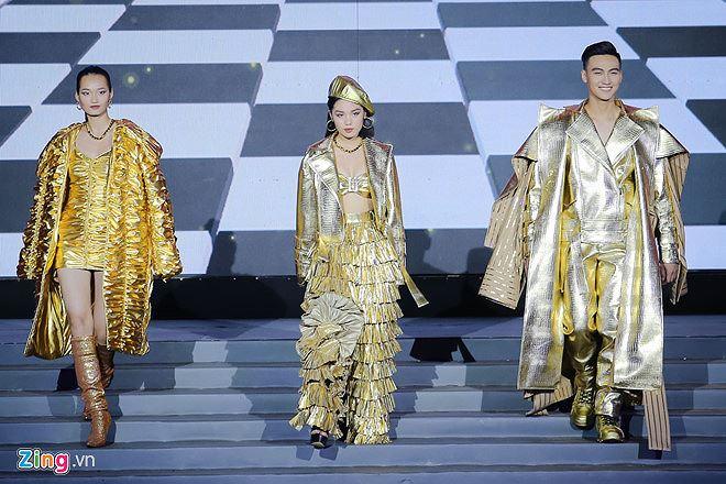 Top 3 The Face 2018 gồm Quỳnh Anh, Trâm Anh, Mạc Trung Kiên (từ trái sang). Ảnh: Nguyễn Thành.