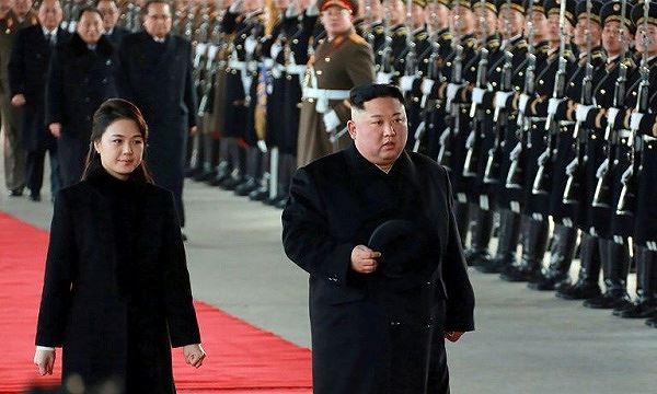 Nhà lãnh đạo Triều Tiên Kim Jong-un và phu nhân.