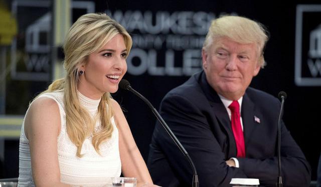 Tổng thống Donald Trump và con gái Ivanka Trump. (Ảnh: Getty)