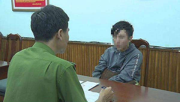 Phạm Ngọc Nam tại cơ quan điều tra.