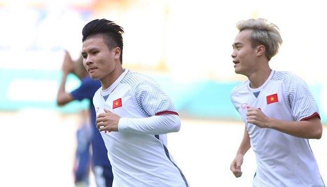 Quang Hải đã ghi bàn duy nhất giúp Việt Nam đá bại Nhật Bản tại ASIAD 2018. Ảnh: I.T