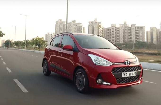 Hyundai i10 có giá khoảng 150 triệu đồng tại Ấn Độ. Ảnh: CarblogIndia