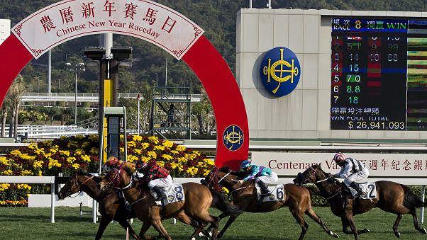 Đua ngựa tại trường đua Sha Tin là hoạt động vui vẻ của các thành viên trong gia đình trong dịpTết đến, xuân về (Ảnh: CNN)