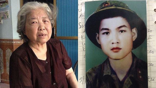 Kỷ vật còn lại của liệt sĩ Trần Ngọc Sơn là chiếc khăn tay