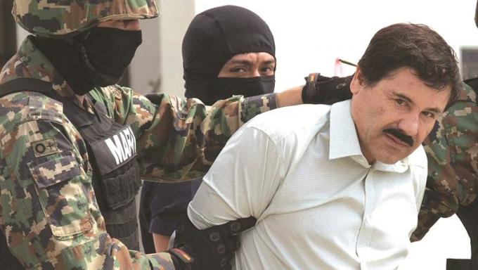 """Trùm ma túy khét tiếng người Mexico Joaquin """"El Chapo"""" Guzman."""