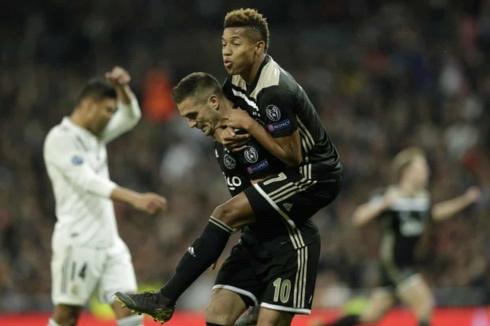 Dusan Tadic lập cú đúp kiến tạo và đích thân ghi 1 bàn cho Ajax trước Real Madrid ở trận này. (Ảnh: Getty)