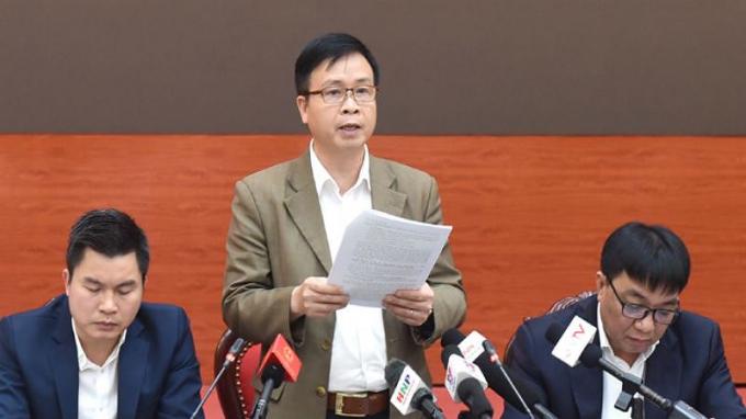 Ông Nguyễn Hoàng Hải - GĐ Trung tâm quản lý và điều hành giao thông đô thị TP Hà Nội thông tin tại Hội nghị.
