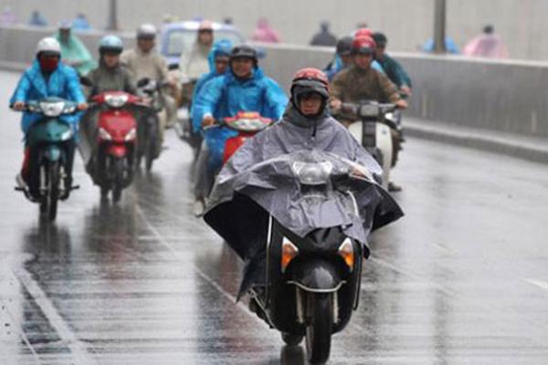 Nhiều tỉnh miền Bắc hôm nay có mưa rào