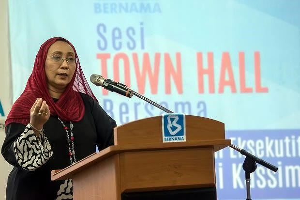 Bà Nurini Kassim, Giám đốc điều hành Hãng Thông tấn Bernama của Malaysia. (Nguồn: Thestar)