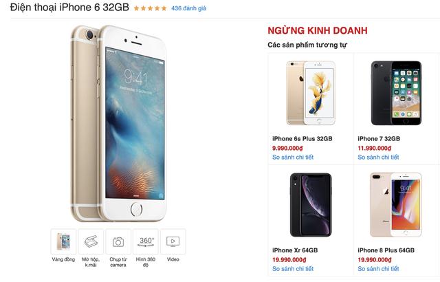 iPhone 6 chính hãng ngừng kinh doanh