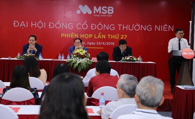 Đại hội cổ đông thường niên của MSB năm 2019