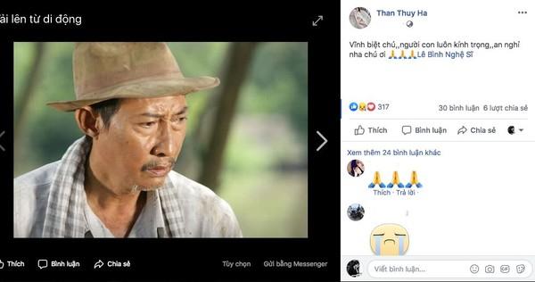 Diễn viên Thân Thuý Hà cũng nói lời vĩnh biệt với nam nghệ sĩ gạo cội.