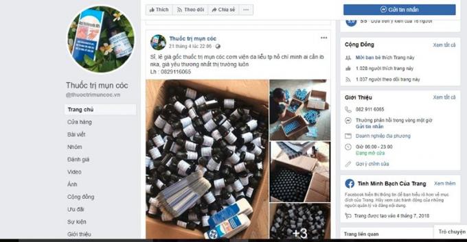 Thuốc Acid trichloracetic 80% bán buôn, đổ sỉ trên facebook gây mất kiểm soát