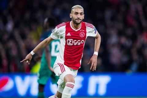 Ziyech nhân đôi cách biệt cho Ajax