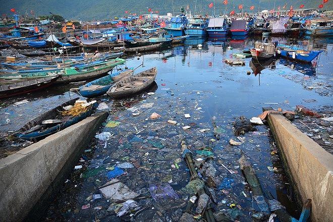 Môi trường vùng biển Đà Nẵng đang bị ô nhiễm do cống xả thải ven biển.