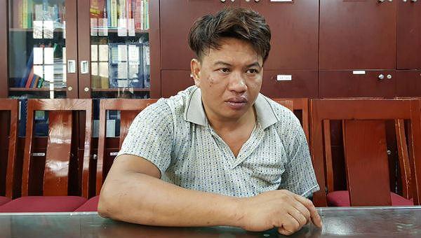Đối tượng Đỗ Văn Bình sau khi bị bắt giữ