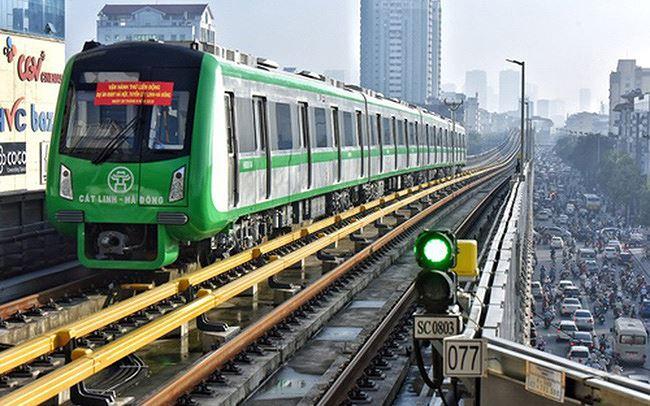 Dự án đường đường sắt đô thị Hà Nội tuyến Cát Linh-Hà Đông đã hoàn thành 99% khối lượng xây lắp.