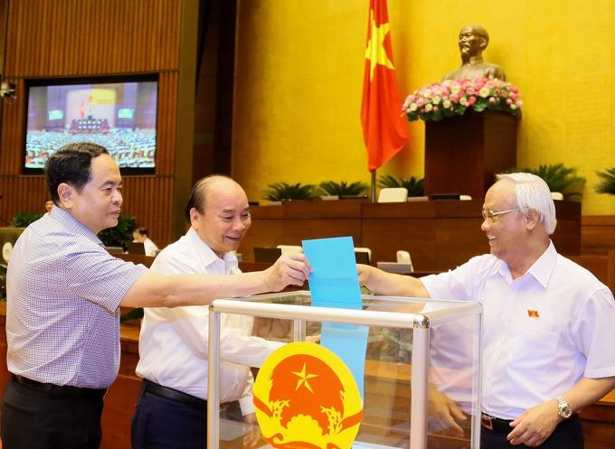 Quốc hội phê chuẩn đề nghị bổ nhiệm Thẩm phán Tòa án nhân dân tối cao bằng hình thức bỏ phiếu kín.