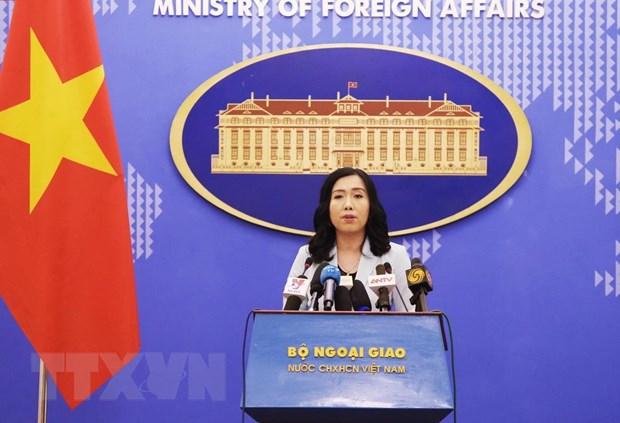 Người phát ngôn Bộ Ngoại giao Lê Thị Thu Hằng. (Ảnh: Lâm Khánh/TTXVN)