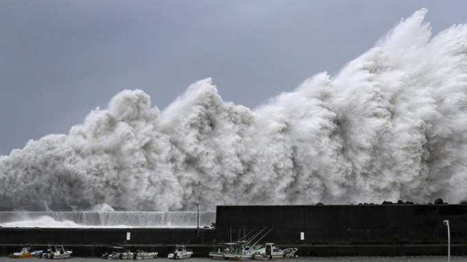 Bão Krosa chiều 15/8 đã đổ bộ gần Kure thuộc tỉnh Hiroshima ở phía tây Nhật Bản.