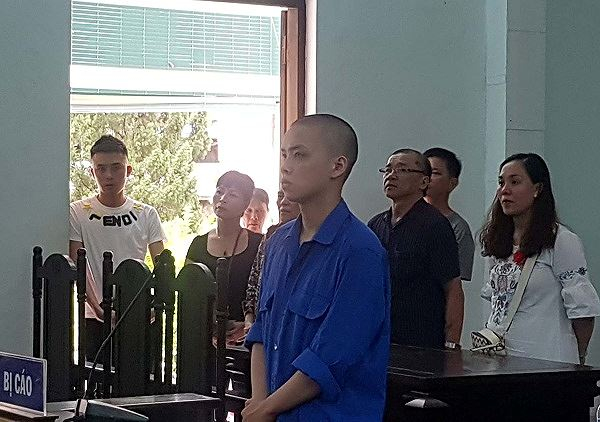 Bị cáo Ngô Hồ Thái Hòa tại phiên tòa xét xử