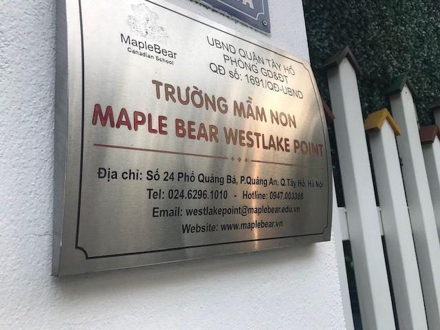 Chỉ tiêu tuyển sinh của Trường Maple Bear Westlake Point (24 Quảng Bá) đã được đính chính, sửa thành chỉ tiêu của Trường Maple Bear Canada có địa chỉ tại tòa nhà Golden Westlake số 151 Thụy Khuê, Tây Hồ, Hà Nội vào ngày 28/5/2019.