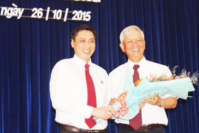 Ông Lê Đức Vinh, Chủ tịch UBND tỉnh Khánh Hòa (trái) và ông Nguyễn Chiến Thắng, cựu Chủ tịch UBND tỉnh Khánh Hòa. Ảnh: TL