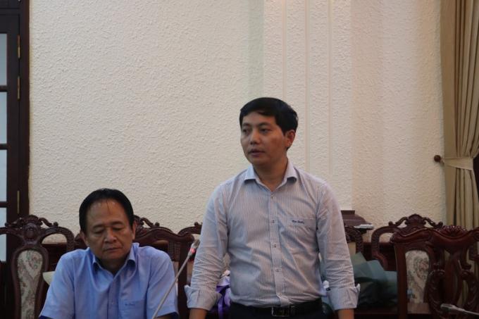Phó Tổng Biên tập Trần Đức Vinh phát biểu tri ân
