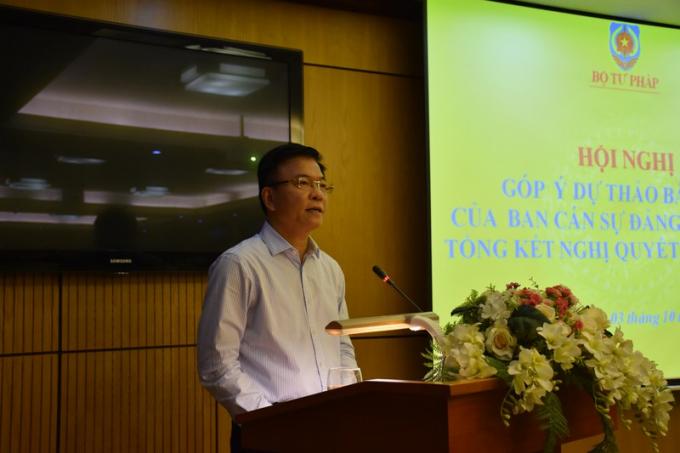 Bộ trưởng Lê Thành Long kết luận Hội nghị