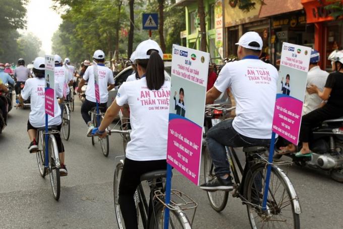 Tuyên truyền cho thành phố an toàn và thân thiện với trẻ em gái