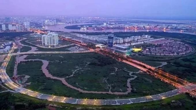 Một góc Khu đô thị mới Thủ Thiêm, quận 2. Ảnh: Hữu Khoa/VnExpress
