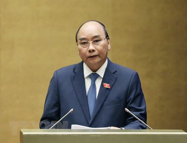 Thủ tướng Nguyễn Xuân Phúc trả lời chất vấn. (Ảnh: Thống Nhất/TTXVN)