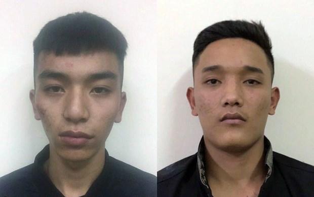 Lê Văn Quân (trái) và Đặng Tuấn Anh. (Ảnh: Công an Hà Nội)
