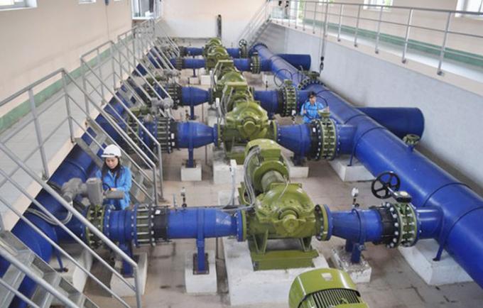 Bên trong nhà máy thuộc Công ty CP Cấp nước Nghệ An.