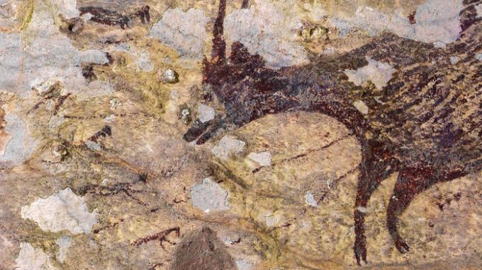 Một hình vẽ của người tiền sử tại Indonesia. (Nguồn: theguardian.com)