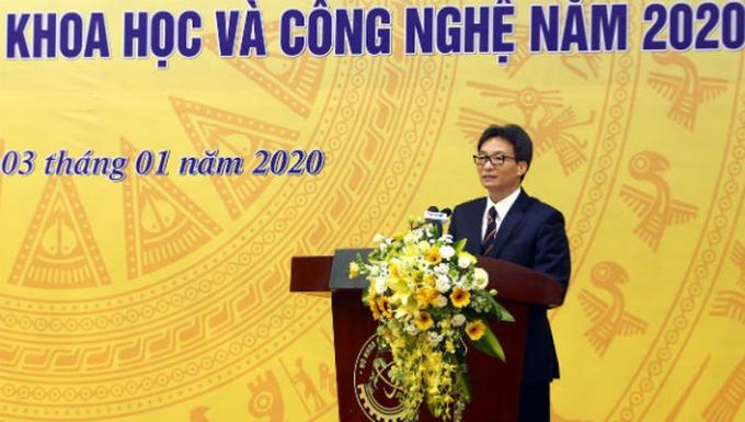 Dự và phát biểu tại hội nghị triển khai nhiệm vụ ngành khoa học và công nghệ năm 2020 vào sáng 3/1, Phó Thủ tướng Vũ Đức Đam nhấn mạnh, Đảng, Nhà nước trong mọi thời kỳ, đặc biệt hiện nay, là đặc biệt coi trọng khoa học, công nghệ.