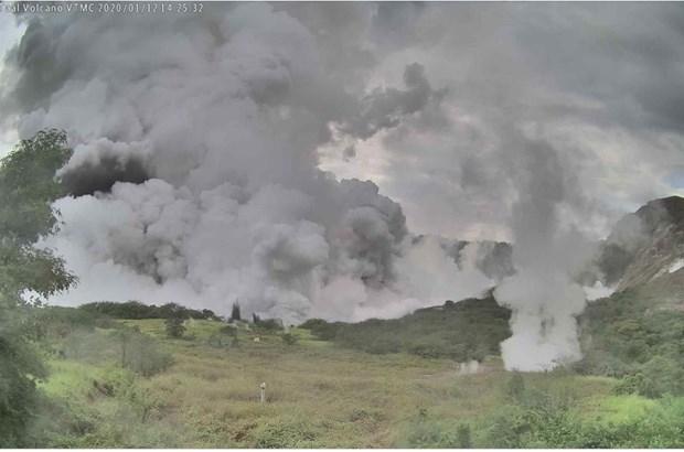 Núi lửa Taal hoạt động trở lại. (Ảnh: Phivolcs)