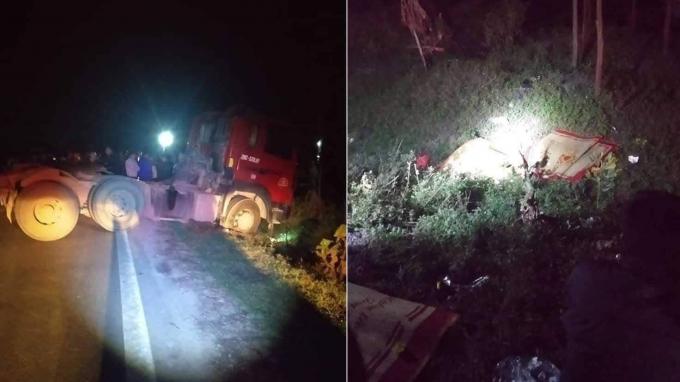 Hiện trường xảy ra vụ tai nạn khiến 3 người tử vong.
