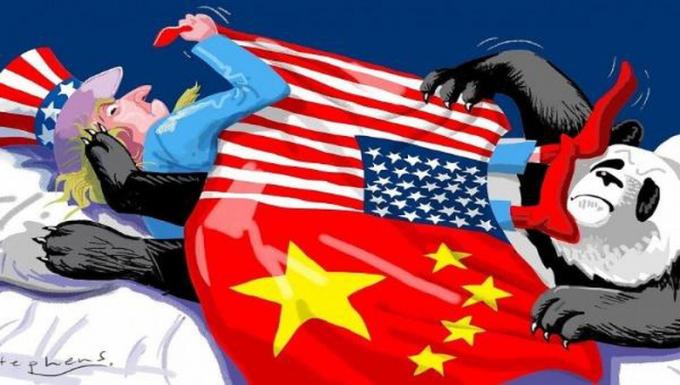 (Hình minh họa quan hệ Mỹ - Trung)