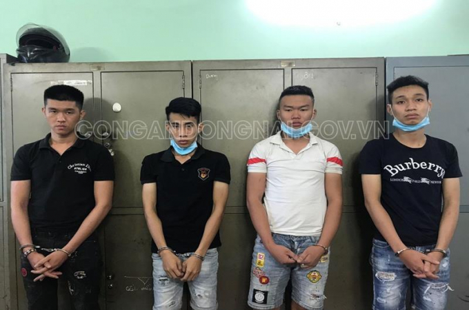Tạm giữ 4 đối tượng mua bán trái phép chất ma túy ảnh: công an Đồng Nai.
