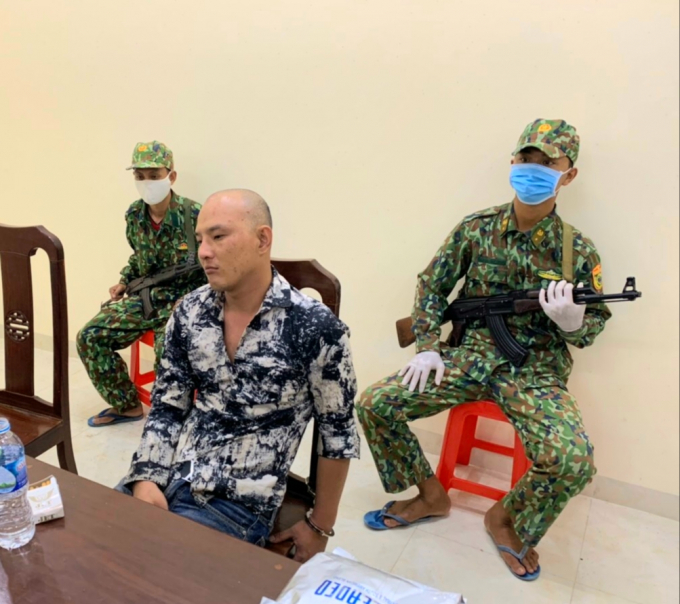 Trần Tuấn Khanh tại đồn biên phòng cửa khẩu Bình Hiệp.