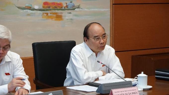 Thủ tướng phát biểu thảo luận tại tổ về dự án Luật Bảo vệ môi trường (sửa đổi).