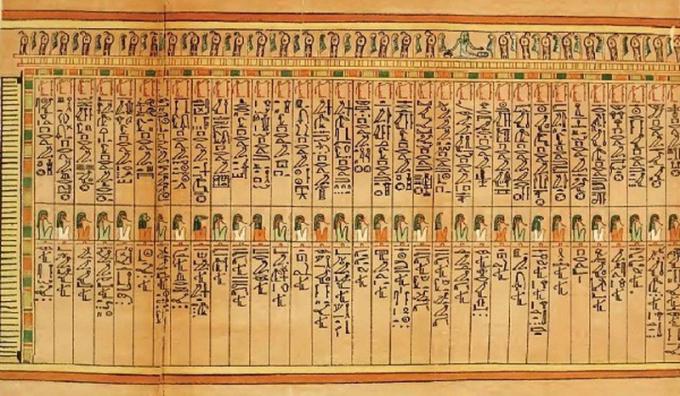 Những ký tự bí ẩn trong cuốn Ai Cập sinh tử kỳ thư.